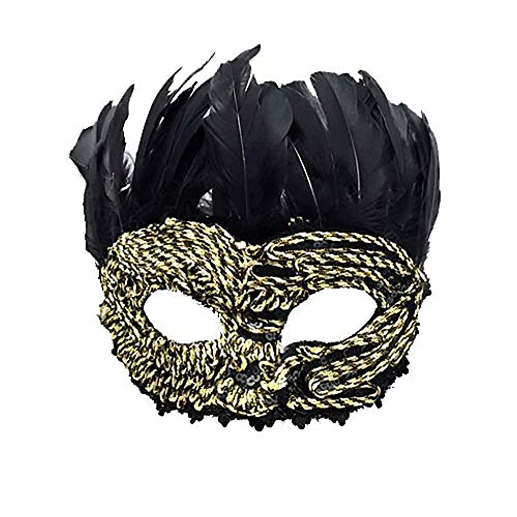 容器ウェイター多分Nanle ハロウィーンクリスマスレースフェザースパンコール刺繍マスク仮装マスクレディーメンズミスプリンセス美容祭パーティーデコレーションマスク(カップルモデル) (色 : Style B)