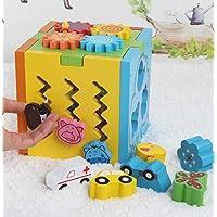 HuaQingPiJu-JP 子供のための美しい木製の形状ソーター幾何学的なソートボックス教育形状色認識玩具