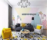 Dtcrzj フラミンゴの壁紙純赤い部屋ライブルームの壁紙寝室のリビングルームテレビの背景壁の壁画-Ngg、1,1,5,0、*、1,0,5、C、M