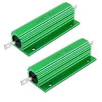 100W 3.3オームネジをタップして、アルミ収容された巻線型抵抗器2個を搭載