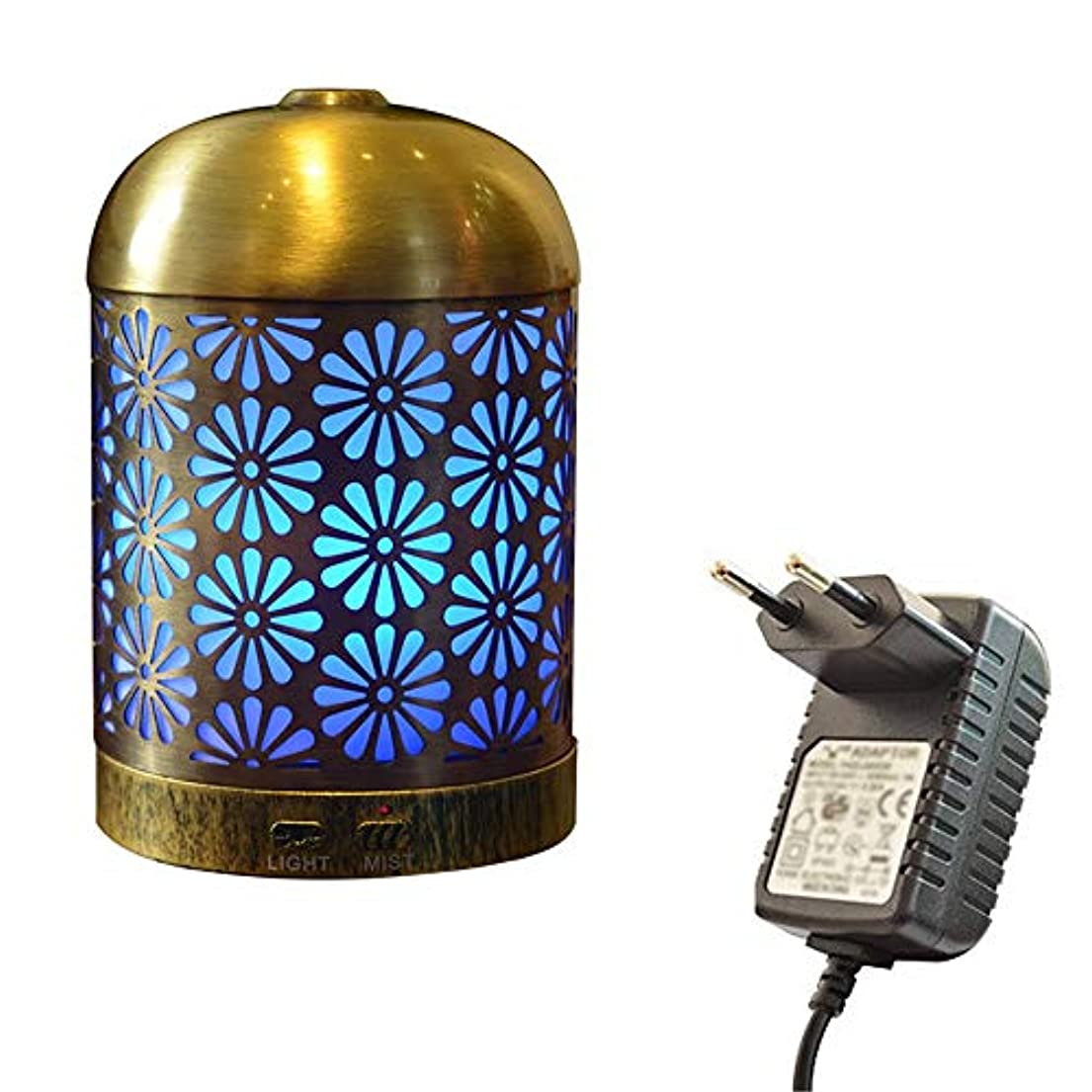 魅力的であることへのアピールを除くクックプレミアムアイアンアロマセラピーディフューザー、超音波クールミストエッセンシャルオイルディフューザー、7色LED用ホーム、スパ