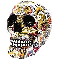 BESTOYARD ハロウィーンの頭蓋骨の装飾印刷ホラーノベルティのおもちゃの偽装人間の小道具樹脂の頭蓋骨の頭の装飾