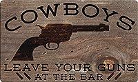 Toland Home Garden 800489 Cowboys Warning 18 x 30 Inch Decorative, Doormat [並行輸入品]