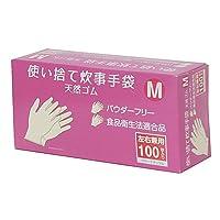 コーナンオリジナル 使い捨て 炊事手袋 天然ゴム 100枚入り M KFY05-1128