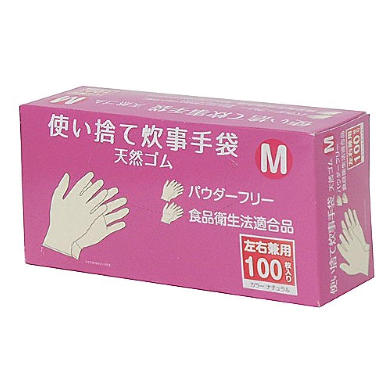 証明資金れるコーナンオリジナル 使い捨て 炊事手袋 天然ゴム 100枚入り M KFY05-1128