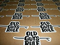25Old Guys RuleサーフボードサーフサーフィンLongboard Finビーチ品質ステッカー