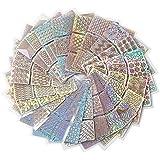 Tianmey 24スタイルDIYポーランド転送ネイルアートステンシルテンプレートスタンピング中空ステッカービニールマニキュア画像ガイド美容ツール