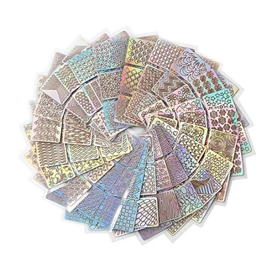 偶然ステープル見つけたKerwinner 24スタイルDIYポーランド転送ネイルアートステンシルテンプレートスタンピング中空ステッカービニールマニキュア画像ガイド美容ツール