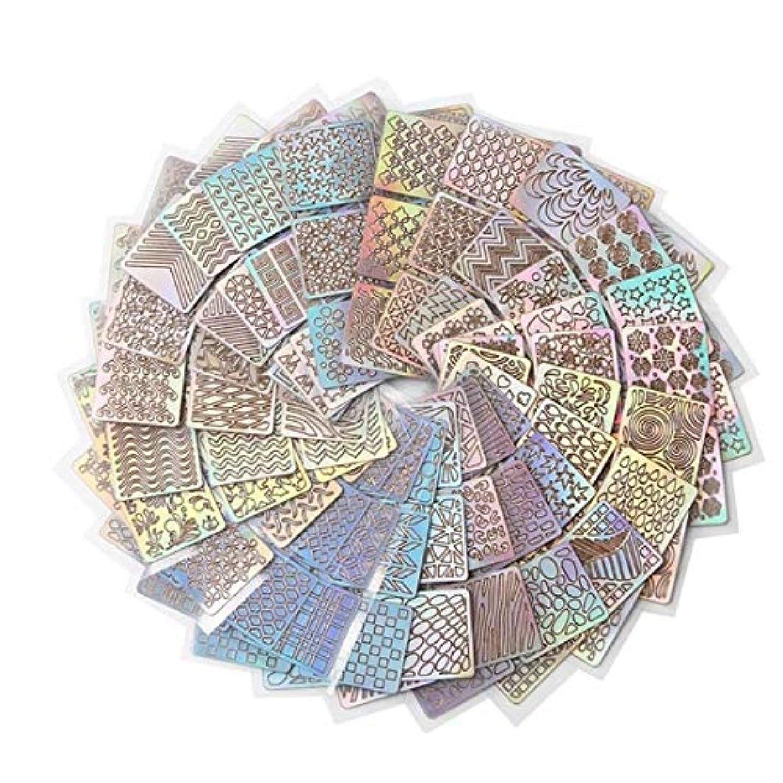 巨人ウール伝統的Kerwinner 24スタイルDIYポーランド転送ネイルアートステンシルテンプレートスタンピング中空ステッカービニールマニキュア画像ガイド美容ツール