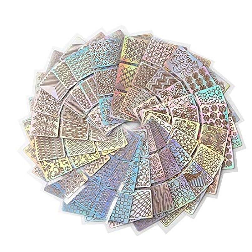 ALEXBIAN 24スタイルDIYポーランド転送ネイルアートステンシルテンプレートスタンピング中空ステッカービニールマニキュア画像ガイド美容ツール