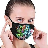 素晴らしいトロピカルフローラル配置デザイン マスクお洒落 メンズ レディース 春 夏 秋 冬 薄いマスク 通気性良く 無地 3D印刷する 洗濯できる 男女兼用 ユニセックス 通勤 通学 アウトドアアンチダスト 繰り返し使える仮面
