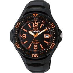 [シチズン キューアンドキュー]CITIZEN Q&Q 腕時計 SOLARMATE (ソーラーメイト) 電波ソーラー アナログ表示 スポーツタイプ 10気圧防水 ブラック×オレンジ HG10-315 メンズ