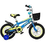 QXmEi子供の自転車高炭素スチールフレーム2 – 3 - 4 , – , 7 , – 8 Years Old Boy and Girl 12 /14 /16 /18インチ自転車補助ホイール付き
