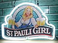 """ST Pauli Girl Neon Sign 20"""" x16""""インチ明るいネオンライトのストアBeer Bar Pubガレージ部屋"""