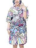(エーシーディーシーラグ) ACDC RAG サムライTワンピ Tシャツ ロング丈 ワンピース レディース メンズ 半袖 原宿系 ファッション ゆめかわ パステルカラー 浮世絵 和柄