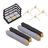 ルンバ 800 900 シリーズ消耗品アクセサリ アイロボット870 880 980 対応互換セット - エアロブラシ、エッジクリーニングブラシ、ダストカットフィルター(12点セット)
