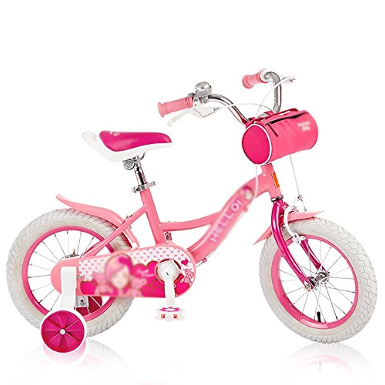 YANFEI 子ども用自転車 子供用自転車ガールズ自転車マウンテンバイク12インチ14インチ16インチベビーキャリッジ 子供用ギフト