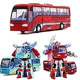 ランフィー 子供のための青/赤いロボットのバスのバストランスフォーマー レッド
