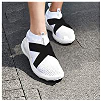 WENPINHUI Women's Shoes, Basketball Shoes, Summer Sneakers (White, Black)