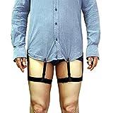 シャツの外漏れを防止するサスペンダー メンズ  アヒル口クリップ 調節可能 男女兼用