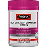 Swisse Ultiboost High Strength Cranberry Supplement, 25,000 mg, 100 Softgel Tablets