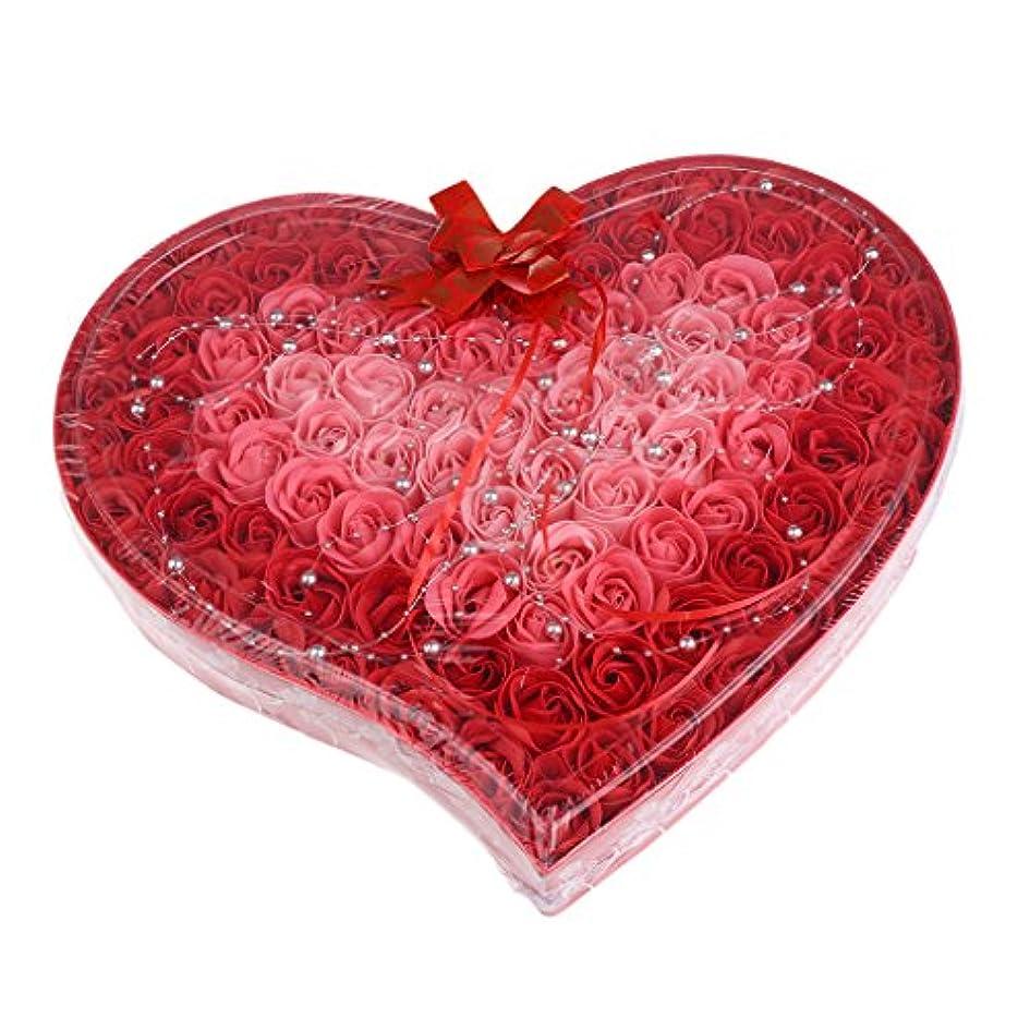 脅威歌うどういたしましてBaosity 約100個 ソープフラワー 石鹸の花 母の日 心の形 ギフトボックス バレンタインデー ホワイトデー 母の日 結婚記念日 プレゼント 4色選択可 - 赤