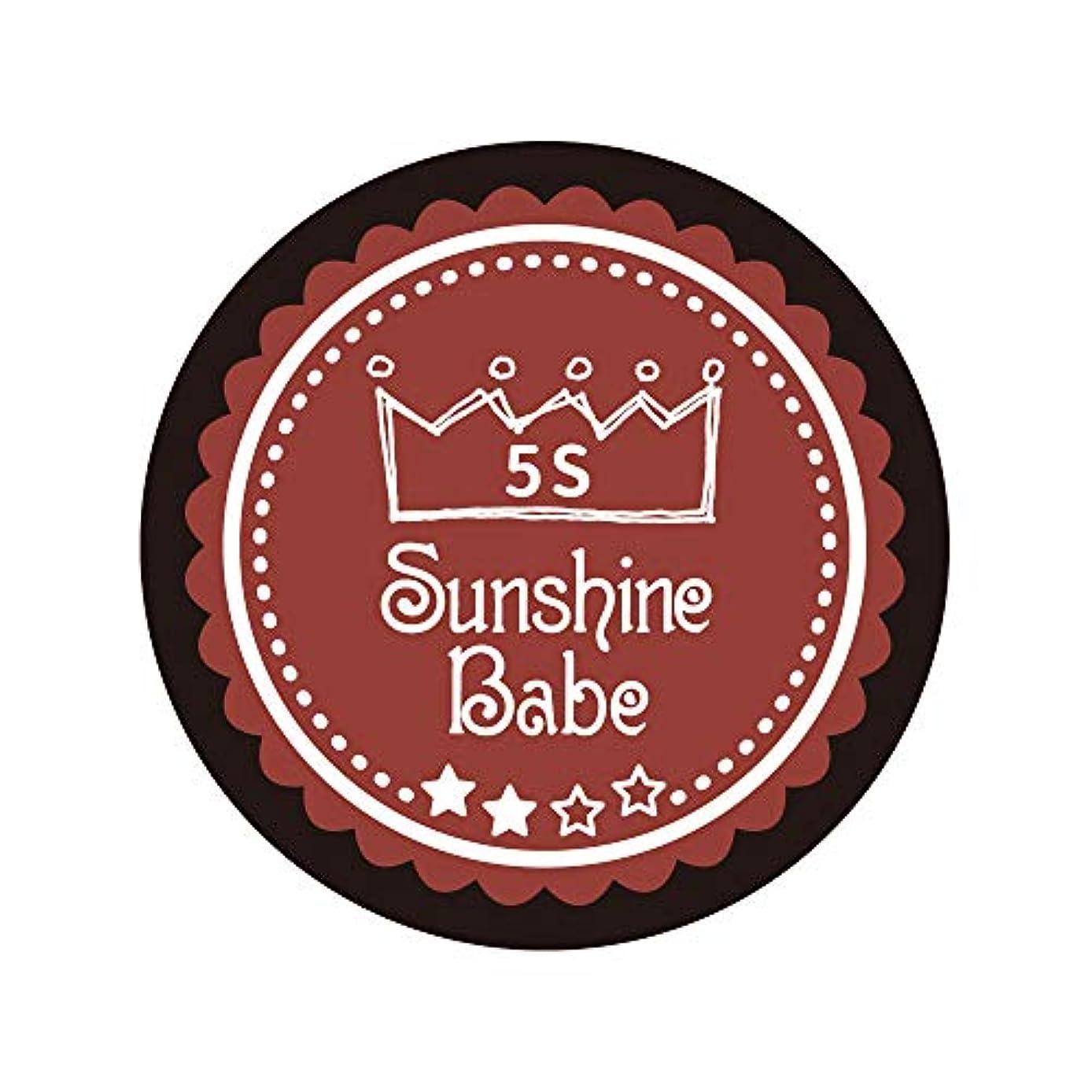 虚弱ブラスト無駄なSunshine Babe カラージェル 5S チリオイル 2.7g UV/LED対応