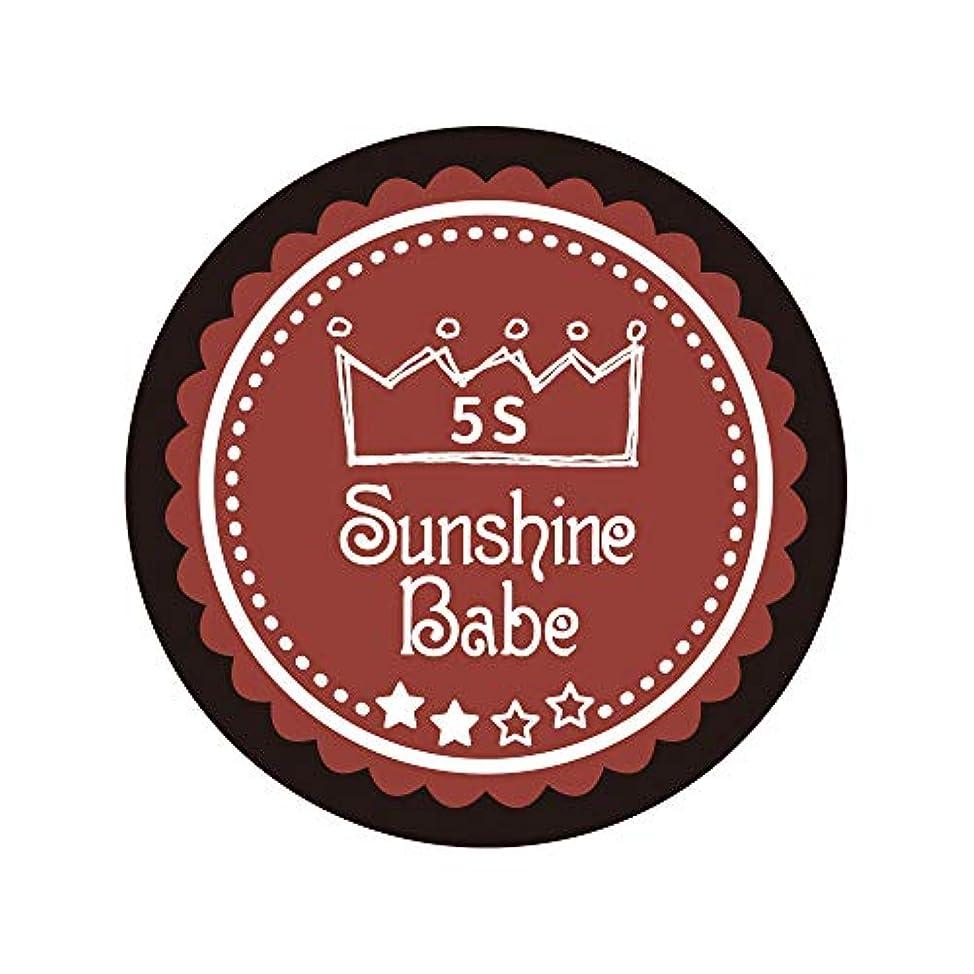縮れたリンス後世Sunshine Babe カラージェル 5S チリオイル 2.7g UV/LED対応