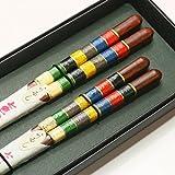 縁起箸 七色夫婦箸ギフト (黒紙箱入り)