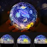ナイトライト星空投影ランプ 360度回転 多色変更可能 スタープロジェクター ライト,プラネタリウム 家庭用 子供用 誕生日プレゼントにぴったり