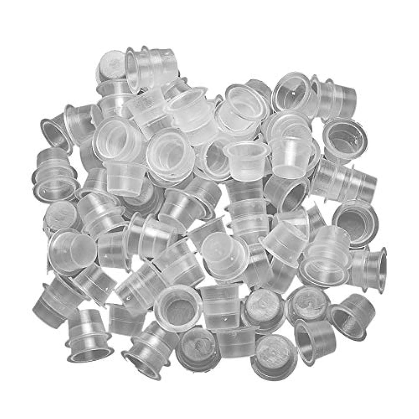 留め金ディスカウント複製する入れ墨キャップ カップ 約1000個 使い捨てプラスチック 入れ墨顔料カップ