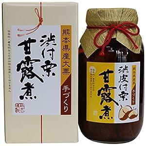 熊本県産の大粒の栗だけを使用した 渋皮付栗甘露煮 大瓶 1100g(固形620g)
