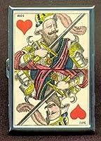 Playingカード1850King Hearts IDウォレットorシガレットケースアメリカ製