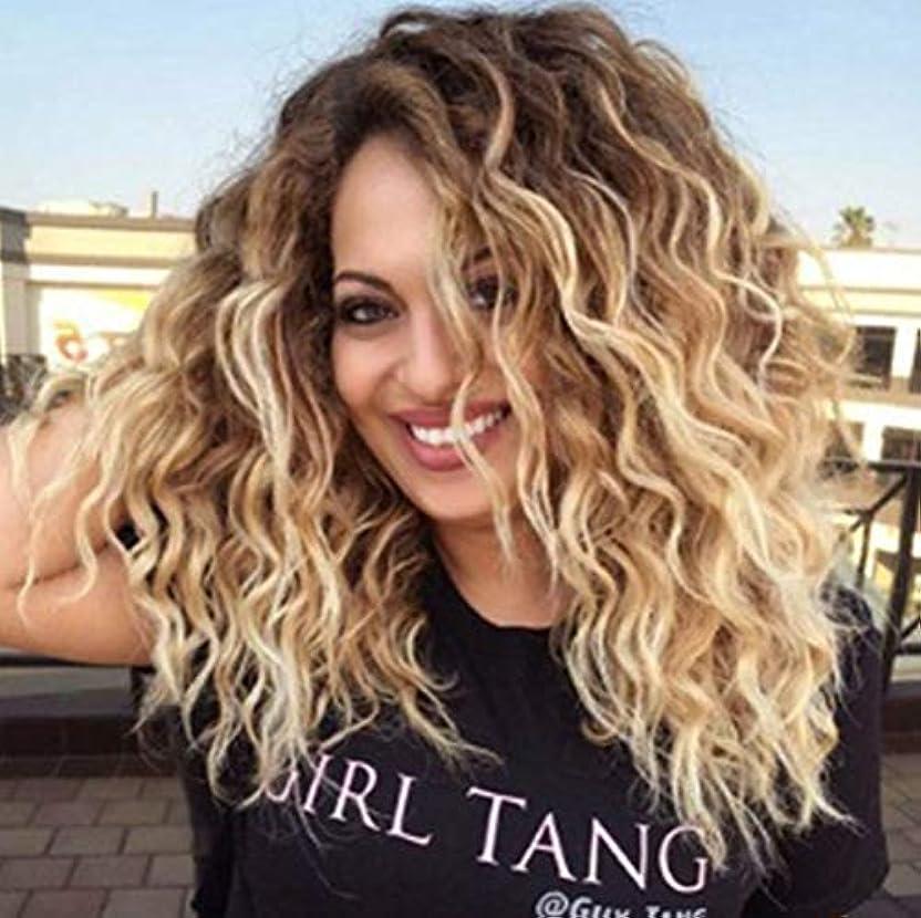 インサートリンケージ類推かつら女性合成ブラジルのremy毛プレ摘み取ら漂白ノットゴールデングラデーション52センチ