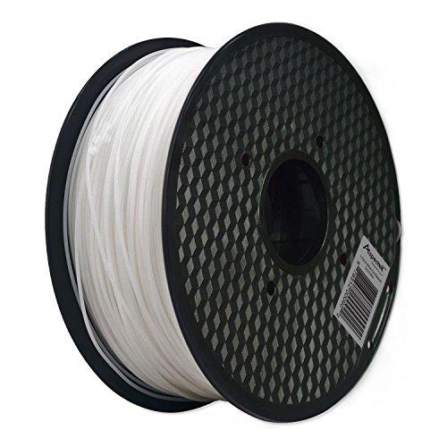 Aspectek 3Dプリンター用PLA フィラメント【高品質で精密・天然素材を使用しており危険な物質を含まない】1kg (ホワイト)