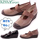KISSA SPORT(キサスポーツ) エナメルウェッジパンプス KS8120