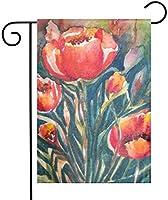 花の庭の旗の家の屋内および屋外の休日の装飾、ゲームファミリーパーティーバナー '-12.5「x18」のために装飾的な防水ポリエステルヤード