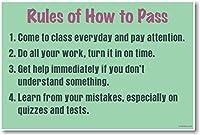 ルールのHow to Pass–新しい教室Motivational Poster
