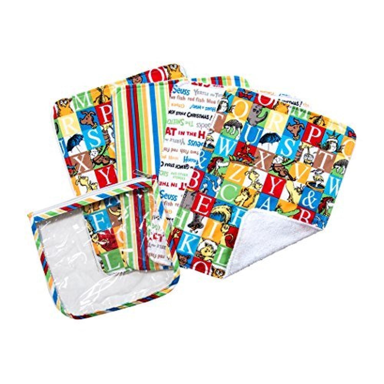 Trend Lab Dr. Seuss Alphabet Seuss Zipper Pouch and Burp Cloths Gift Set by Trend Lab [並行輸入品]