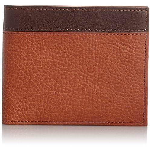 [ゾンネ] SONNE 二つ折り財布(小銭入れ付) SOR003 CA/CH (CAMEL/CHOCO)