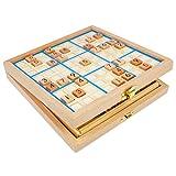 Andux Land Sudokuボードボックス3- in - 1木製番号Place Toy sd-03(ブルー)