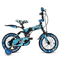 HAIZHEN マウンテンバイク チャイルドフォールド自転車3-6-8歳のベビーベビーカー12インチ14インチ16インチバイク 新生児 (色 : 青, サイズ さいず : 16Inch)