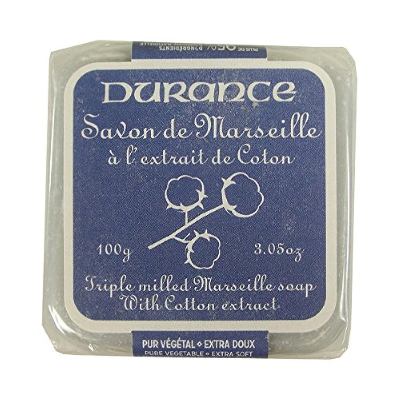 乳白たまにリア王DURANCE(デュランス) マルセイユソープ 100g 「コットン」 3287570405481