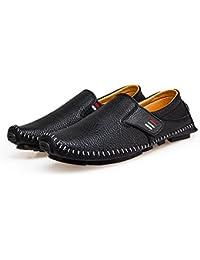 ビジネスシューズ ピーズの靴 モカカジュアルシューズ スリッポン メンズ ローファー 紳士靴 防滑 軽量 通勤 革靴 カジュアル デッキシューズ モカシン靴 ドライビングシューズ ブルー ホワイト ブラック