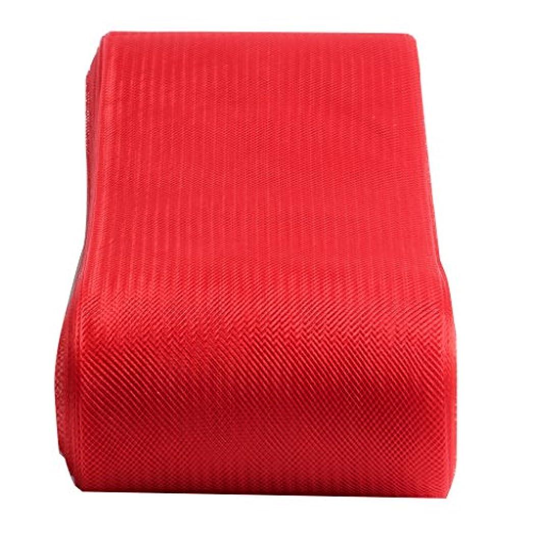 再編成するバイパス電球ポリエステルロープ 編組 手作り 手芸用 衣装 DIY チュールスプール ロール 飾り付け 多色選べる - 赤