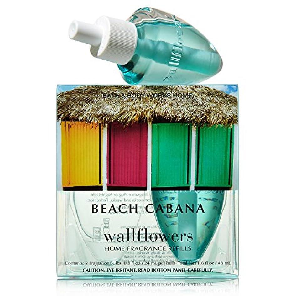 落ち着く矩形チケットバス&ボディワークスWallflowers Home Fragrance Refill電球2パックビーチCabana
