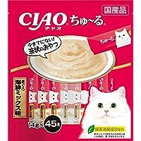 チャオ (CIAO) 猫用おやつ ちゅ~る まぐろ 海鮮ミックス味 14g×45本入