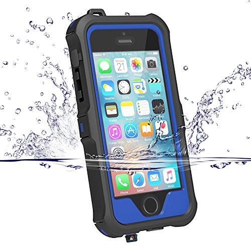 iphone SE ケース iphone5s ケース ZVE® iphone5s 防水ケース アイフォン5sケース 多機能スマホケース 防塵 防雪 耐衝撃カバー 指紋認識可 液晶保護フィルム付き 新型 (iphone5/5S/SE ブルー)