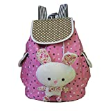 ftsucq GirlsキャンバスBunny学生バックパック旅行用デイパックトートバッグスクールバッグ
