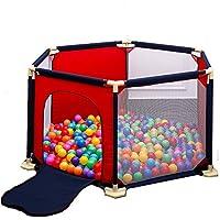 BSNOWF-ベビーサークル プレイパネル6パネル子供用ゲームフェンスポータブルオックスフォードクロス幼児用ルームディバイダーフェンス屋内屋外キッズプレイグラウンド (色 : Red)